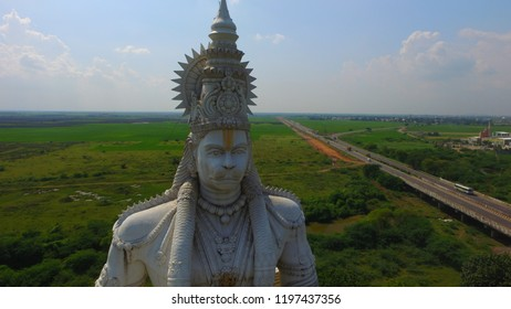 Tall Hanuman statue in Andhra Pradesh state Paritala in India