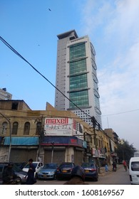 Tall MCB tower which serves as head office of MCB bank which was previously known as Muslim commercial bank. It was sold to Mian Mansha in 90's - Karachi Sindh Pakistan - Jan 2020
