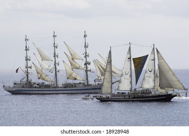 tall ship off Funchal in Madeira