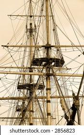 Tall Ship in sepia