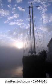 Tall Ship at Sunrise