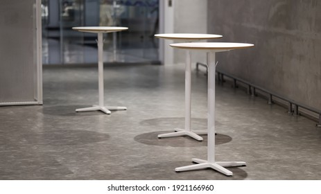 Tall table - Wooden table steel legs simplistic, tall bar stools in stylish kitchen with wooden cupboards. - Shutterstock ID 1921166960