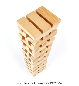 Tall tower made of blocks