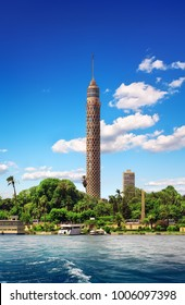 Tall TV tower in Cairo