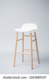 tall white bar stool Modern designer Bar chair