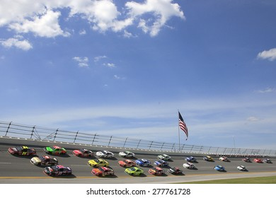Talladega, AL - May 03, 2015:  The NASCAR Sprint Cup Series teams take to the track for the GEICO 500 at Talladega Superspeedway in Talladega, AL.