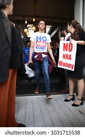 TALLAHASSEE, FL - FEBRUARY 21: Students from Marjory Stoneman Douglas High School attend a rally at the Florida State Capitol building to address gun control law reforms.