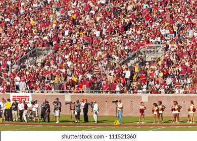 TALLAHASSEE, FL - OCT. 22:  Sold out crowd at Doak Campbell Stadium, home of Florida State football team on Oct. 22, 2011 in Tallahassee, FL. It has a capacity of 82,300, making it the 14th largest stadium in the NCAA.