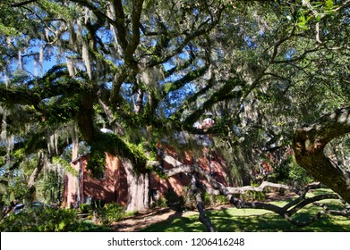 Tallahassee, FL, USA - October 24, 2017: The Tallahassee Old City Cemetery is the oldest burial ground in the city, established in 1829by the Florida Territorial Legislature.