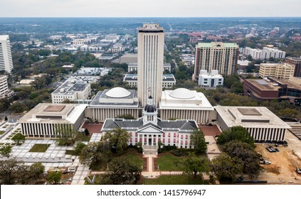 Tallahassee, Florida - 21March 2019: The old and the new State Capitol building of Florida
