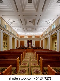 TALLAHASSEE, FLORIDA - DECEMBER 5: Florida Supreme Court chamber on December 5, 2014 in Tallahassee, Florida