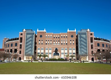 TALLAHASSEE, FLORIDA - FEBRUARY 11, 2017: Florida State University Center Complex which encompasses the visitors center, store and stadium is located in Tallahassee, Florida on February 11. 2017.
