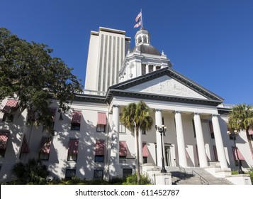 TALLAHASSEE, FLORIDA/USA - NOVEMBER 07, 2016: Florida State Capitol building, Tallahassee and Historic Capitol Museum. It became a city and capitol in 1821.