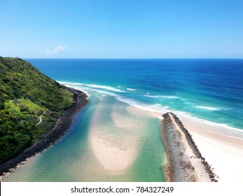 Tallebudgera Creek from the air.