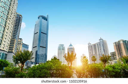 The tallest building in the metropolitan financial district, Nanning, China.