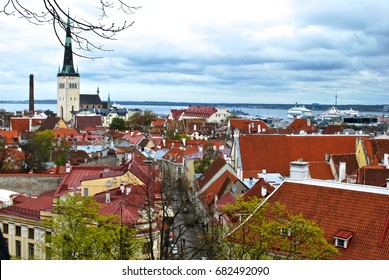 TALLIN, ESTONIA - MAY 9 Tallinn, Estonia's capital, retains its walled, cobblestoned Old Town, as well as Kiek in de Kök, a 15th-century defensive tower, in Tallin, Estonia,  May 9, 2014.