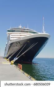 "Tallin, Estonia-July 07, 2017: Holland America cruise ship ""Zuiderdam"" at dock in Tallin, Estonia"