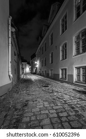 Tallin old city in black and white
