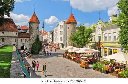 TALLIN,ESTONIA - JULY 22:Tallin Old town on july 22,2010.With a population of 431000 It is situated on the northern coast of Estonia.It's Old Town is listed as a UNESCO World Heritage Sites