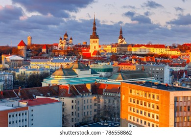 Tallinn. The Alexander Nevsky Cathedral on Toompea Hill.