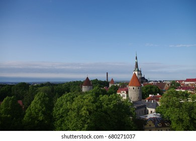 Tallinn city top view, Estonia.