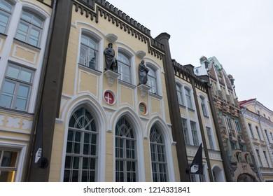 Tallinn. Estonia. 04 may 2018. Pikk Street. Kanuti gildi hone historical monument
