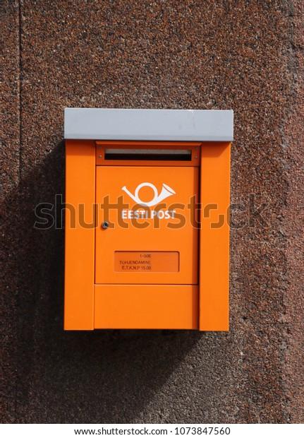 4924895e506 Tallinn Estonia April 21 2018 Orange Stock Photo (Edit Now) 1073847560