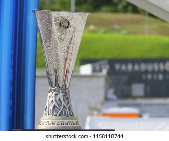 TALLINN, ESTONIA - AUGUST 15, 2018: UEFA Cup  during the match 2018 UEFA Super Cup Real Madrid - Atletico at the stadium A. Le Coq Arena