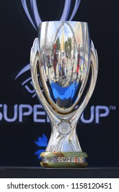 TALLINN, ESTONIA - AUGUST 15, 2018: UEFA Super Cup  during the match 2018 UEFA Super Cup Real Madrid - Atletico at the stadium A. Le Coq Arena