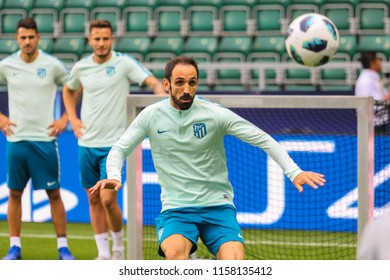 TALLINN, ESTONIA - AUGUST 15, 2018: Spanish professional footballer Juanfran  during the match 2018 UEFA Super Cup Real Madrid - Atletico at the stadium A. Le Coq Arena