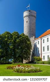TALLINN / ESTONIA - AUGUST 2015: View to the medieval castle of Tallinn, Estonia
