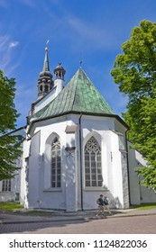 TALLINN, ESTONIA - JULY 08, 2017: St Mary's Cathedral (Dome Church) on Toompea Hill