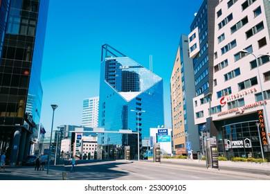 TALLINN, ESTONIA - JULY 26: Modern Architecture In Estonian Capital On July 26, 2014 In Tallinn, Estonia