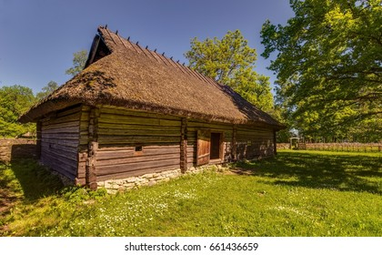 Tallinn, Estonia - June 15, 2017: Estonian open air museum, Vabaohumuuseumi kivikulv, Rocca al Mare.