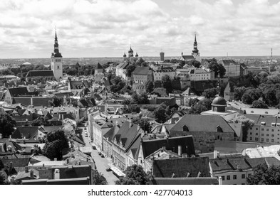 TALLINN, ESTONIA - JUNE 28, 2015: Cityscape of old town.