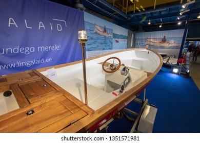 TALLINN, Estonia - MARCH 01-03, 2019: Tallinn Boat Show Meremess in Estonian Fairs Center
