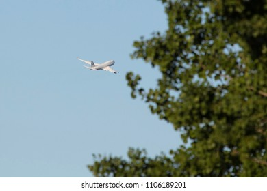 Tallinn, Estonia - MAY 31, 2018: Dubai Royal Air Wing Boeing 747-422. Crown Prince of Dubai leaves Estonia Tallinn Airport