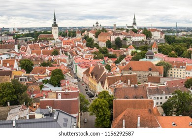 Tallinn, Estonia: The old part of the city from the bird's-eye view