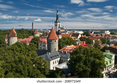 Tallinn. Estonia.  Panoramic view from the Old City.