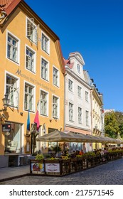 TALLINN, ESTONIA - SEP 8, 2014: Architecture in the Historical Centre of Tallinn, Estonia. It's part of the UNESCO World Heritage site