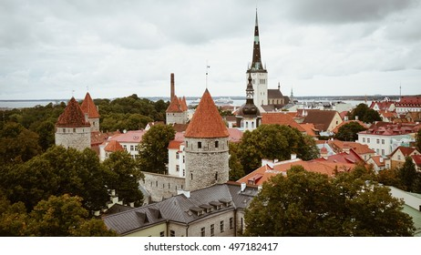Tallinn , Estonia  - September 20 , 2016 : Tallinn Oldtown Cityview