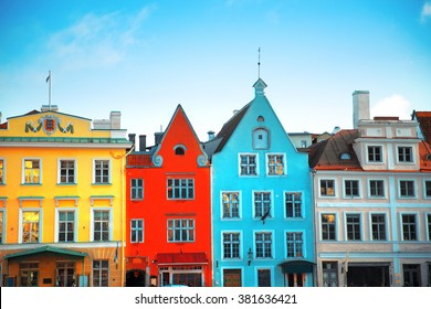 Tallinn, Estonia. Very beautiful old Town Hall Square
