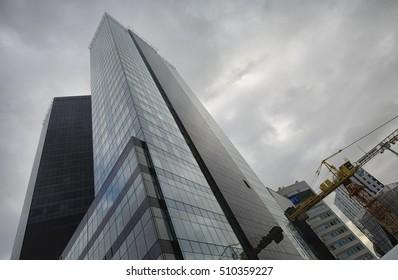 Tallinn modern skyscrapers' architecture