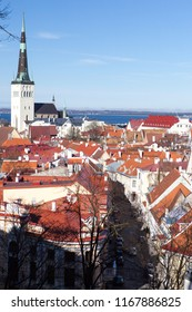 Tallinn old town center on sunny summer day
