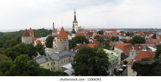 Tallinn panoramic view by day, Estonia