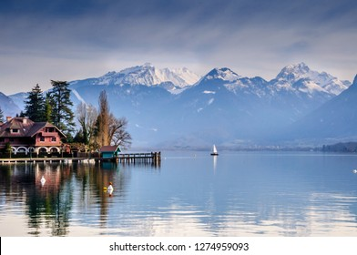 Talloires in French Alps