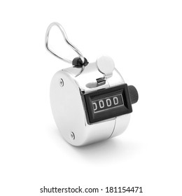 tally click counter on white