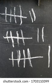 Tally marks or hash marks, a unary numeral system
