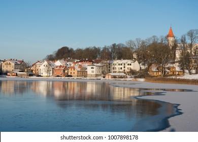 Talsi city, Latvia in winter.