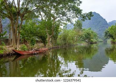 Tam Coc river, Vietnam